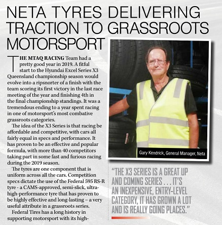 NETA TYRES DELIVERING  TRACTION TO GRASSROOTS MOTORSPORT